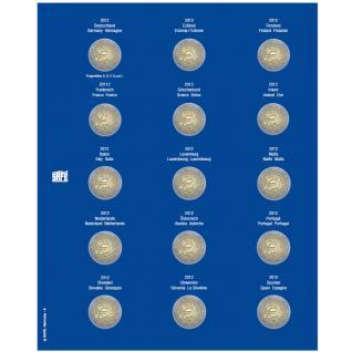 1 x SAFE 7822-8 TOPset Münzblätter Ergänzungsblätter Münzhüllen Münzblatt mit farbigem Vordruckblatt für 2 Euromünzen Gedenkmünzen 2012