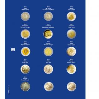 1 x SAFE 7822-9 TOPset Münzblätter Ergänzungsblätter Münzhüllen Münzblatt mit farbigem Vordruckblatt für 2 Euromünzen Gedenkmünzen 2012