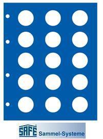 18 x SAFE 1866 Set TOPset farbige Vordruckblätter für Safe Münzblätter Münzhüllen 7854 - 2 Euromünzzen 2002 - 2015 - Vorschau 2