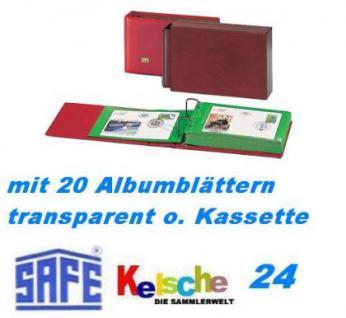 SAFE FDC-Postkartenalbum 877 20 Blatt transparent -