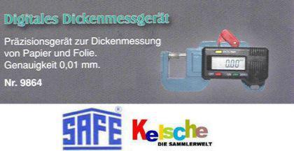 SAFE 9864 Digitales Dickenmeßgerät Dickenmesser Dickenmessgerät Genauigkeit 0, 01mm inklusive Batterie - Vorschau 2