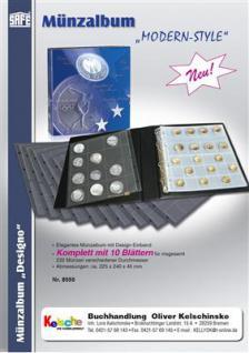 SAFE 8555 Münzalbum Designo MODERN-STYLE + 10 Münzblättern Mixed für 232 Münzen - Vorschau 1