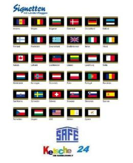 1 x SAFE SIGNETTE Flaggen Flags freie Auswahl - 20% - Vorschau