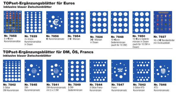 1 x SAFE 7302-17 TOPset Münzblätter Ergänzungsblätter Münzhüllen mit farbigem Vordruckblatt für 2 Euromünzen Gedenkmünzen in Münzkapseln 26 - 2015 - Vorschau 3