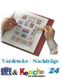 SAFE dual Vordrucke DDR 1972 - 1976 Nr 2018 + BONUS
