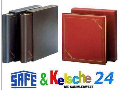 SAFE 1508 Leder Ringbinder Album FAVORIT mit 14 Ring-System Weinrot - Rot Für Briefmarken - Blocks - Banknoten - Postkarten