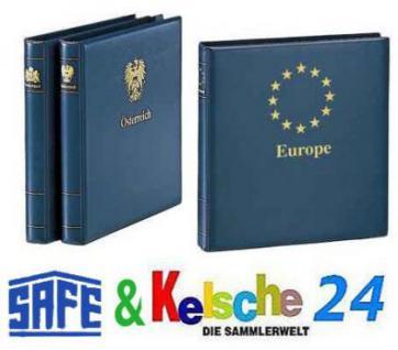 SAFE 7075 Yokama Ringbinder Album Favorit Blau mit Länderwappen Wappenbinder + Titel Polen / Poland Für Banknoten - Postkarten - Briefe - Fotos - Bilder - Briefmarken