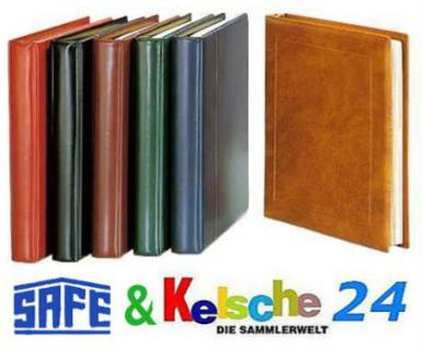 SAFE 775 Yokama Favorit Ringbinder Album Braun mit 14 Ringsystem Für Postkarten Banknoten Briefe Briefmarken