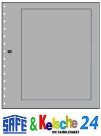SAFE 10 Karton-Blankoblätter grau mit schw. Rand 68