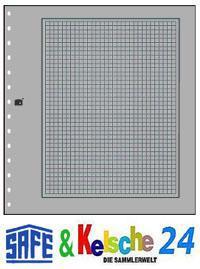 SAFE 10 Karton-Blankoblätter grau schw. Rand & Netz - Vorschau