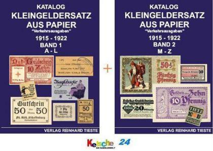Tieste Kleingeldersatz Papier Verkehrsausgaben 1915 - Vorschau