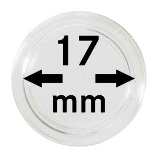 5 LINDNER Münzkapseln / Münzenkapseln Capsules Caps 17 mm 2250017P