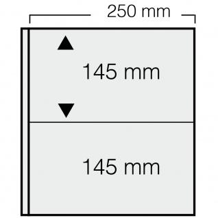 1 x SAFE 7352 Banknoten Hüllen Ergänzungsblätter 2er Teilung 250x 145 mm