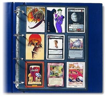1 x SAFE 478 Compact A4 Einsteckblätter Hüllen Spezialblätter Schwarz 70x95 mm Für 18 Spielkarten