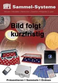SAFE 5909 Holz Münzvitrinen Vitrinen 35 Fächer bis 35 mm Deutsche Für 5 DM Gedenkmünzen in Münzkapseln 29 - 29, 5