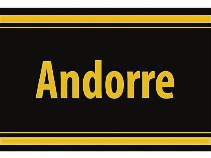 """1 x SAFE 1130 SIGNETTE Aufkleber selbstklebend Andorra """" Andorre """""""
