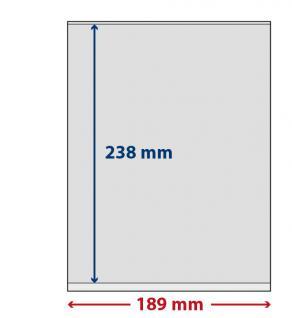 5 x LINDNER S802107H LINDNER-T freestyle Folienhüllen 1 Tasche 238 x 189 mm mit Klebestreifen