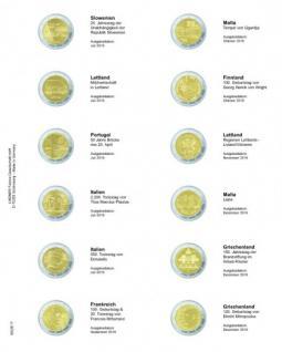 1 x LINDNER MU2E17 Multi Collect Münzhüllen Münzblätter Vordruckblatt 2 Euro Gedenkmünzen Slowenien Juli 2016 - Giiechenland Dezember 2016