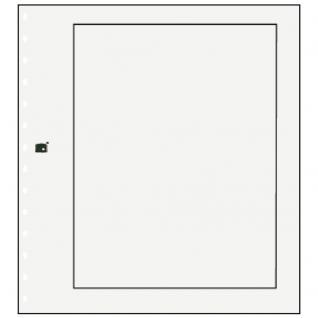 10 x SAFE 790 Karton Blankoblätter Weiss Mit schwarzem Rand