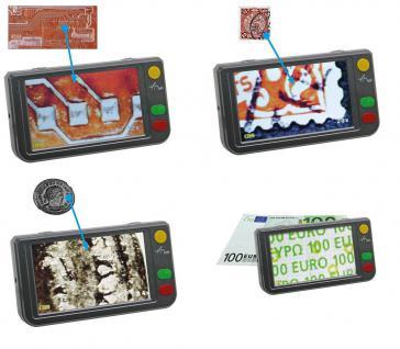 SAFE 9790 LED Digital Mikroskope Portable + Standfuß 4 GB Micro SD Karte - 2 - 250 fache Vergößerung Für Handel & Handwerk & Industrie - Münzen - Briefmarken - Banknoten - Mineralien - Fossilien - Lacke - Elecktronische Bauteile und und und - Vorschau 1