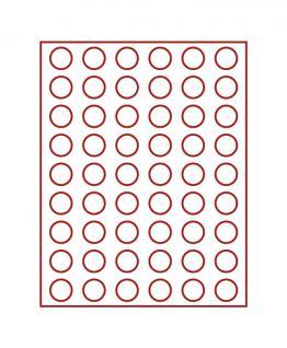 LINDNER 2709 Münzbox Münzboxen Rauchglas für 54 Münzen 26, 75 mm Ø 2 DM