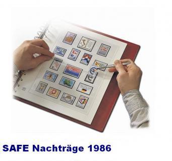 SAFE 1786 dual Nachträge - Nachtrag / Vordrucke Berlin Jahresschmuckblätter - 1986