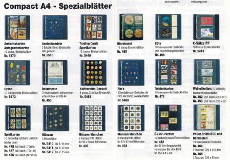 10 SAFE 461 Einsteckblätter Compact A4 - 2 schwarze Taschen 109 x 297 mm vertikale Teilung Für Banknoten Briefmarken - Vorschau 4
