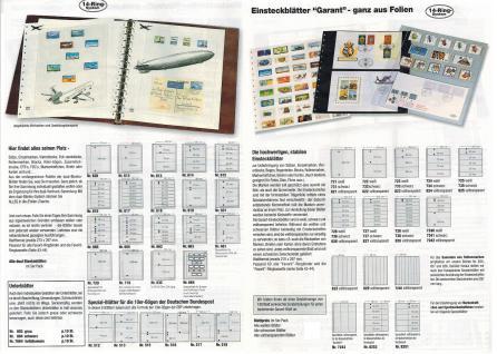 10 x SAFE 753 Einsteckbklätter Spezialblätter Favorit glasklar & transparent 1 Tasche 260 x 300 mm Für ETB Bogen FDC - Vorschau 3