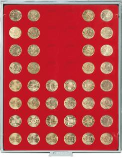 LINDNER 2549E Velourseinlagen Hellrot für Münzbox Münzboxen Kassetten Münzkoffer