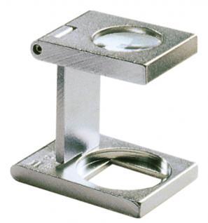 LINDNER 7175 Eschenbach Metall Lupe Standlupe Fadenzähler 12 fache Vergrößerung Linse 12, 6 mm