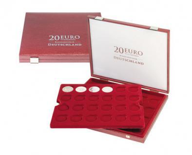 LINDNER 2455 Luxus Kassetten mit 2 Tableaus 48 x 20 Euromünzen Gedenkmünzen Deutschland