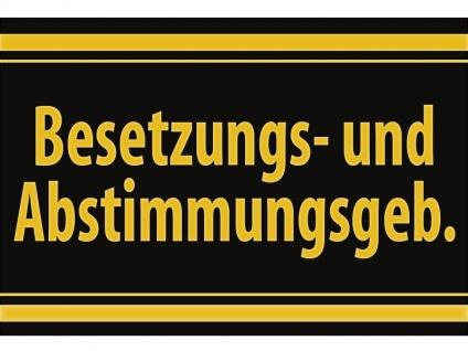 """1 x SAFE 1130 SIGNETTE Aufkleber selbstklebend """" Besetztzungs- u. Abstimmungsgebiete"""
