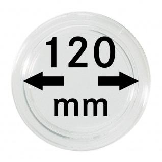 1 x Lindner S22712000 Spezial Münzkapseln Capsules EXTRA HOCH Innen-Ø 120 mm, Innenhöhe 9, 2 mm