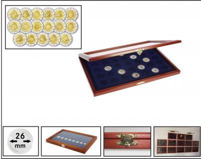 """SAFE 5854 Echt Holz Münzvitrinen Vitrinen 22 x 2 Euromünzen Gedenkmünzen """" 10 Jahre Euro Bargeld 2002 - 2012 """" in Münzkapseln 26"""