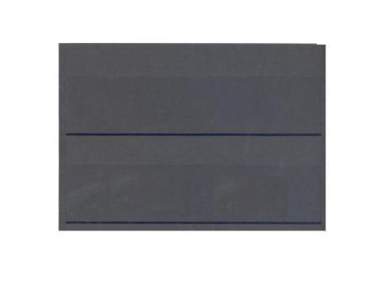 100 x HAWID HA502000 DIN A5 Schwarze Einsteckkarten Steckkarten Klemmkarten 210 x 148 mm 2 Streifen