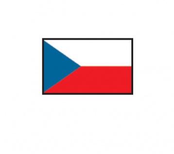 1 x SAFE 1175 SIGNETTE Flagge Tchechei - Tchechien - Czech Aufkleber Kennzeichnungshilfe - selbstklebend