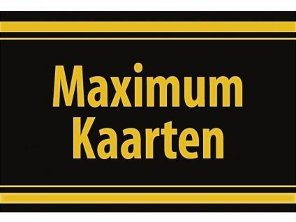"""1 x SAFE 1130 SIGNETTE Aufkleber selbstklebend """" Maximum Kaarten """" (niederländisch)"""
