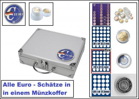 SAFE 279-9 ALU Münzkoffer SMART Deutschland 3D Plakette MIX PROFI Für 10x Euro Kursmünzenästze KMS - 60x 2 Euro - 30x 5 Euro Planet Erde Klimazonen - 20x 10 - 20 Euro Gedenkmünzen alles in Münzkapseln