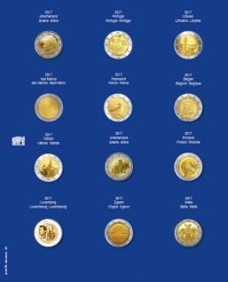 1 x SAFE 7302-25 TOPset Münzblätter Ergänzungsblätter Münzhüllen mit farbigem Vordruckblatt für 2 Euromünzen Gedenkmünzen in Münzkapseln 26 - 2017 - 2018