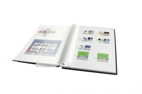 """SAFE 125 Design Briefmarken Einsteckbuch Einsteckalbum Album """" TREND """" Schwarz 32 weissen Seiten - Vorschau 4"""