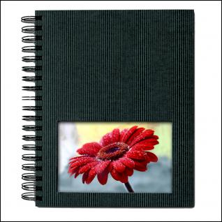 SAFE 5801-5 Design Fotoalbum Classic Carbo Schwarz 19 x 24 cm Hochformat Medium - 40 Seiten + Austauschbares Coverbild