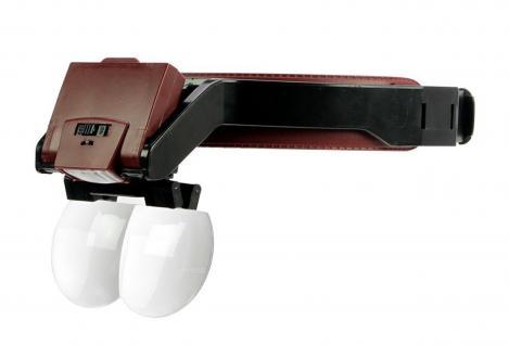 SAFE 9834 LED LUPENBRILLE 1, 7 / 2 / 2, 5 / 4, 5 x fache Vergrößerung für Hobby & Beruf
