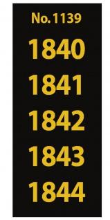 SAFE 1139 SIGNETTEN Aufkleber Jahreszahlen Year dates 1840 1841 1842 1843 1844