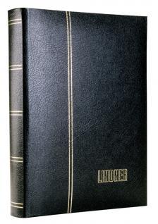 Lindner 1185L-S Briefmarkenalbum Einsteckbücher Einsteckbuch Elegant Leder Schwarz 60 schwarze Seiten