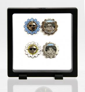 SAFE 4528 SCHWEBERAHMEN NEO RAHMEN FRAME PRESENTER 3D Schwarz 110 x 110 mm / 92 x 92 mm Für Geocoins - Münzen - Travel Bugs - Geocaching