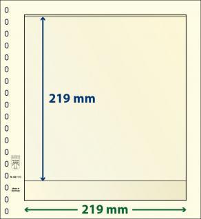 10 x LINDNER 802110P T-Blanko-Blätter Blankoblatt 18-Ring Lochung - 1 Tasche 219 x 219 mm