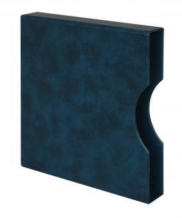 LINDNER 814-B Kassette Schutzkassette Blau für Ringbinder 1104 - 2810 - 2815