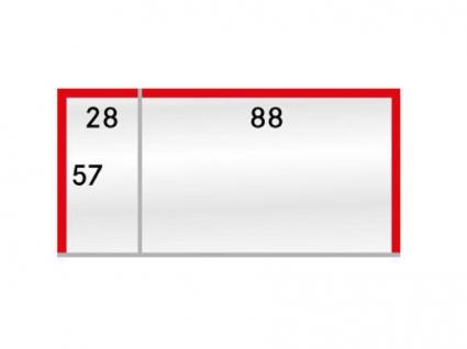 500 LINDNER 877P Schutzhüllen Klarsichthüllen Telefonkarten mit Preis Etiketten 88 x 57 & 28 x 57 mm - Vorschau 1