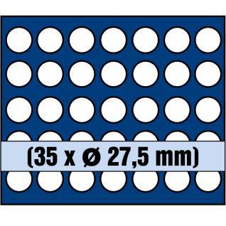 1 x SAFE 6328 SP Tableaus / Einsätze SMART mit 35 runden Fächern 27, 5 mm ideal für 5 Euro Münzen Blauer Planet 2016 - 2021