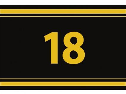 """1 x SAFE 1130 SIGNETTE Aufkleber """" 18 """" Zahlen Ziffern Bandzahlen"""